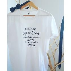 T shirt papa super héros